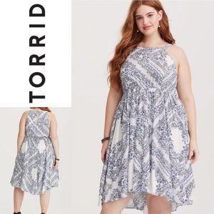 TORRID Floral High neck Hilo Dress Size 2